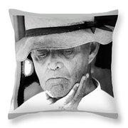 Blind Man Juarez Chihuahua Mexico 1968 Throw Pillow