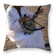 Blind Man Place Djemna Al Fna Marrakesh Morocco Throw Pillow by Ralph A  Ledergerber-Photography