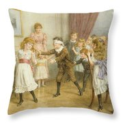 Blind Mans Buff Throw Pillow