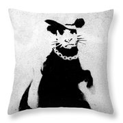 Bling Rat  Throw Pillow