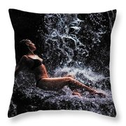 Bliss. Anna At Eureka Waterfalls. Mauritius Throw Pillow