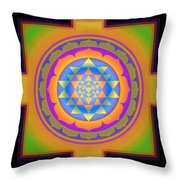 Bliss Yantra Throw Pillow