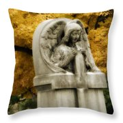 Blissful Angel In Autumn Throw Pillow