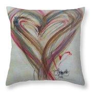 Blissful Heart Throw Pillow