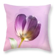 Blissfully Purple Throw Pillow