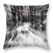 Blizzard In The Forest Throw Pillow