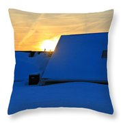 Blizzard Sunrise Throw Pillow