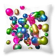 Blobs Of Fun... Throw Pillow