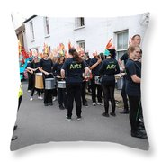 Blocco Drummers Rye Throw Pillow