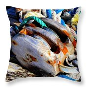 Block And Tackle - Square - Ropes Throw Pillow