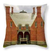 Block Island Southeast Light -back View Throw Pillow by Lourry Legarde