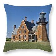 Block Island Southeast Lighthouse Throw Pillow