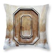 Block O Throw Pillow
