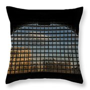 Block View Throw Pillow