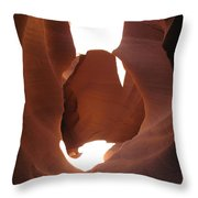 Blocked Canyon Throw Pillow