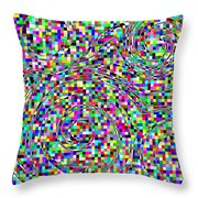 Blocks And Swirls Throw Pillow