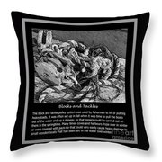 Blocks And Tackles Vintage Sketch Throw Pillow