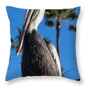 Blond Pelican Throw Pillow