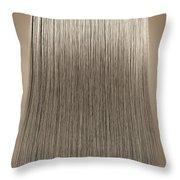 Blonde Hair Perfect Straight Throw Pillow