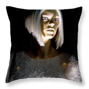 Blonde Highlights Throw Pillow