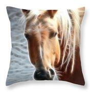 Blonde Strands Throw Pillow