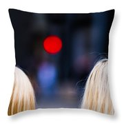 Blondes Are Not Allowed 2 - Featured 3 Throw Pillow