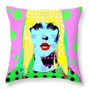 Blondie Throw Pillow by Ricky Sencion