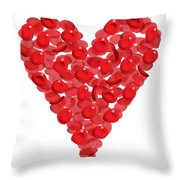 Blood Cells Heart Throw Pillow