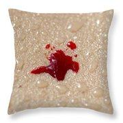 Blood Drop Throw Pillow