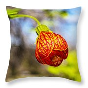 Blood Flower 9325 Throw Pillow