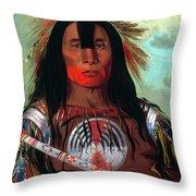 Blood Head Chief, 1832 Throw Pillow