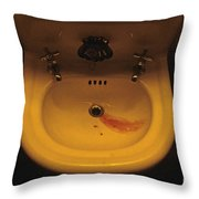 Blood In Sink Throw Pillow