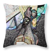 Blood Letting Throw Pillow