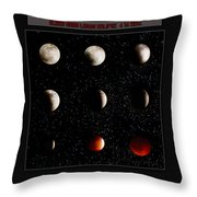 Blood Moon Lunar Eclipse 2014 Color Throw Pillow