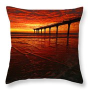 Blood Red Dawn Throw Pillow