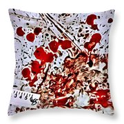 Blood Spatter Throw Pillow