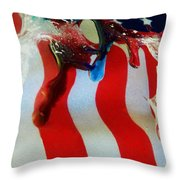 Blood Sweat And Tears Fallen For Freedom Throw Pillow