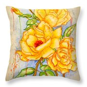 Blood Sweat And Tears Vignette Throw Pillow