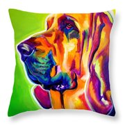 Bloodhound - Sunlight Throw Pillow