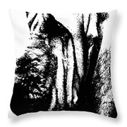 Bloodhound - It's Black And White - By Sharon Cummings Throw Pillow
