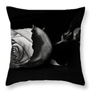 Bloodless Rose Throw Pillow