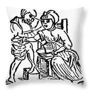 Bloodletting, 15th Century Throw Pillow