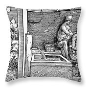 Bloodletting, C1500 Throw Pillow