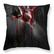 Bloody Hand Throw Pillow by Jt PhotoDesign