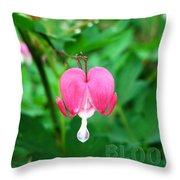 Bloom Bleeding Heart Throw Pillow