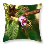 Bloom-fly  Leif Sohlman Throw Pillow