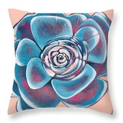 Bloom I Throw Pillow by Shadia Derbyshire
