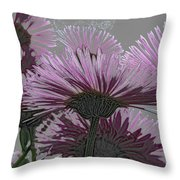 Bloom Pink Daisies Enhanced Throw Pillow
