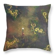 Bloom Where You're Planted II Throw Pillow