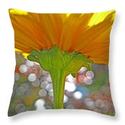 Bloom Yellow Daisy Throw Pillow